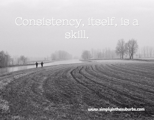 consistency is a skill